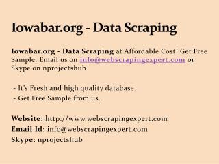 Iowabar.org - Data Scraping