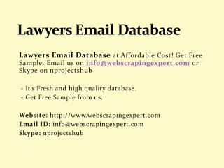 Lawyers Email Database