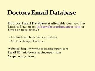 Doctors Email Database