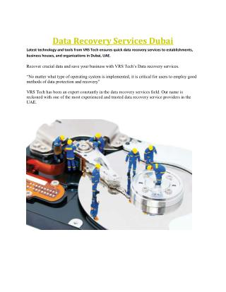 Data Recovery Services - Data Recovery Solutions Dubai