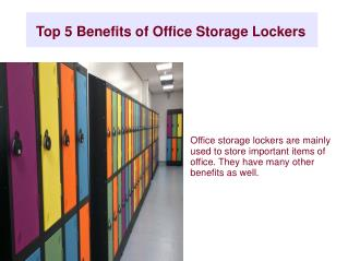 Top 5 Benefits of Office Storage Lockers