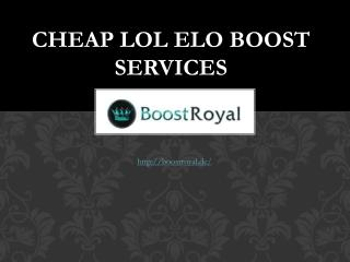 Cheap LOL ELO Boost Services