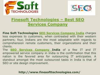 Finesoft Technologies- Best SEO Services Company