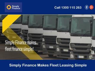Simply Finance Makes Fleet Leasing Simple