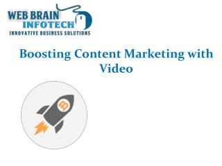 Boosting Content Marketing with Video and Increase ROI