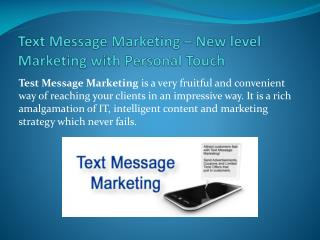 Text Message Marketing New level Marketing