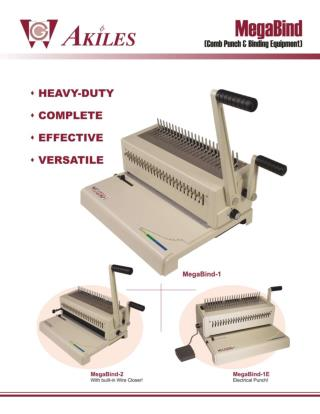 MegaBind Akiles Comb Binding Machine by Printfinish.com