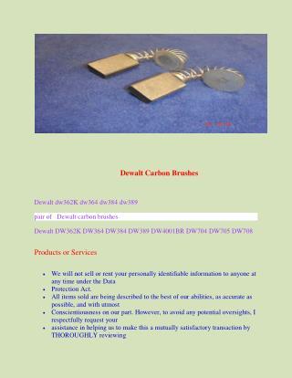 Dewalt Carbon Brushes