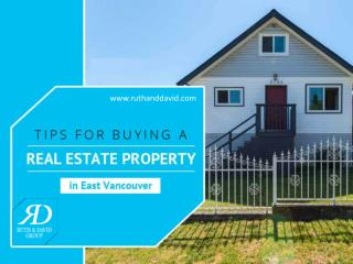 Tips for Buying Your Home in East Vancouver