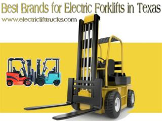 Best Brands for Electric Forklifts in Texas