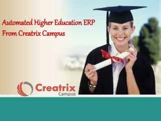 Automated Higher Education ERP From Creatrix Campus