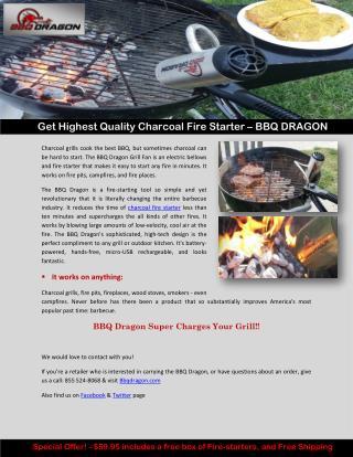 Get Highest Quality Charcoal Fire Starter – BBQ DRAGON