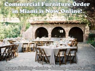 Commercial Furniture Order in Miami is Now Online!