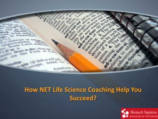 How NET Life Science Coaching Help You Succeed?