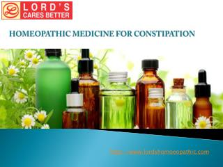 Homeopathic Medicine For Constipation