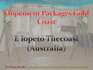 Elopement Packages Gold Coast - Elope To The Coast