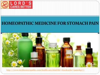 Homeopathic Medicine For Stomach Pain