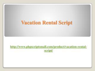 Vacation Rental Script