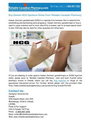 Buy Generic HCG Injections Online