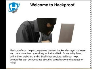 Hackproof SecuritY
