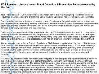 FDS Research discuss recent Fraud Detection & Prevention Report released by the firm