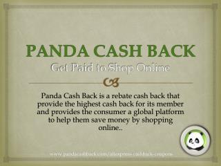 Panda Cash Back & Get Paid to Shop Online