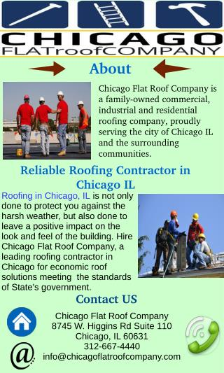 Reliable Roofing Contractor in  Chicago IL