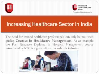 Increasing Healthcare Sector in India