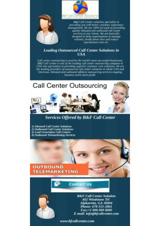 Leading Outsourced Call Center Solutions in USA