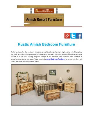 Rustic Amish Bedroom Furniture