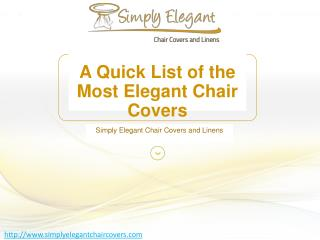 A Quick List of the Most Elegant Chair Covers
