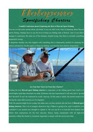 Sports Fishing Charter Hawaii - Holopono Sport Fishing