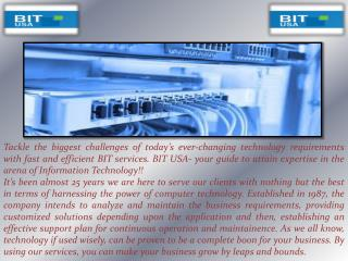 BIT USA Inc Offers Staff Coordination Service in Florida