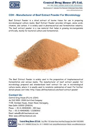 Manufacturer of Beef Extract Powder For Microbiology
