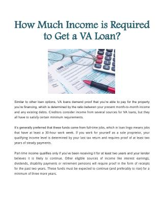 How Much Income is Required to Get a VA Loan