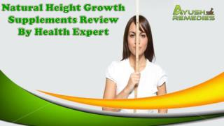 Natural Height Growth Supplements Review By Health Expert