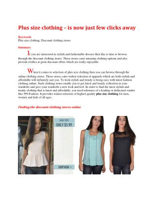 Plus size clothing – is now just few clicks away