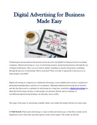 Digital Advertising for Business Made Easy