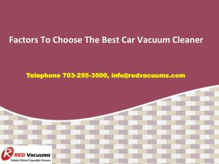 Factors To Choose The Best Car Vacuum Cleaner