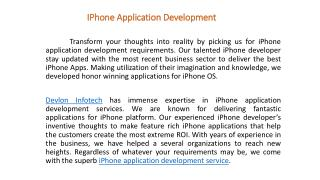 iPhone App Development Service | ios app development company