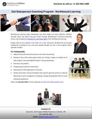 Get Salesperson Coaching Program - Northbound Learning