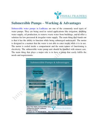 Submersible water pump  in ludhiana
