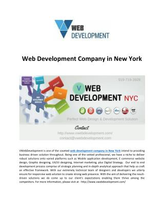 Web Development Company in New York