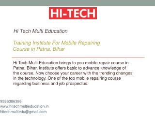 Training Institute For Mobile Repairing Course in Patna, Bihar
