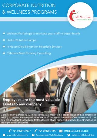 Caf� Nutrition�s Corporate Wellness Programs To Help Companies