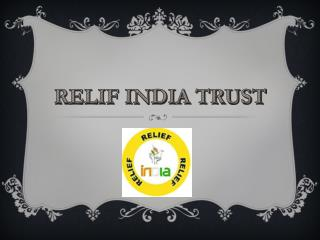 relif india trust funds