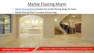 Marble Flooring Miami