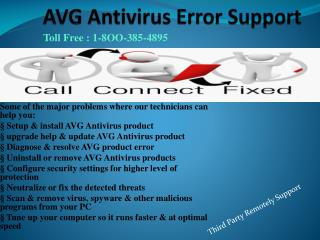 1-8OO-385-4895 AVG Antivirus Error Tech Support Phone Number