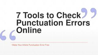 7 Free Tools to Check Punctuation Errors of Your Articles