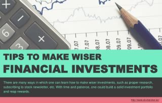 What you can do to build a strong investment portfolio